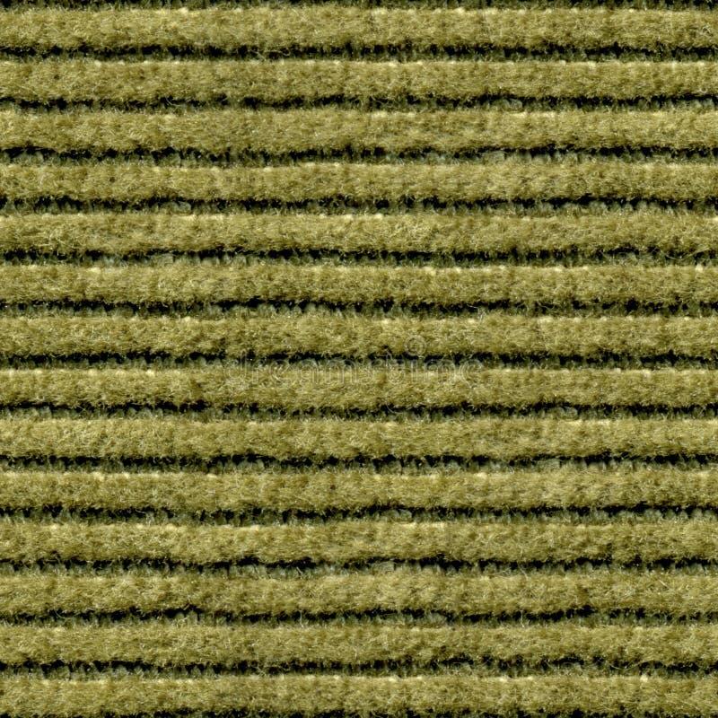 Texture sans couture, plan rapproché vert de velours côtelé photo stock