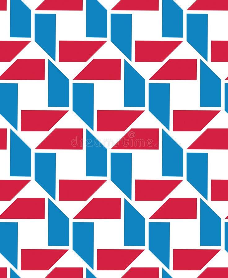 Texture sans fin colorée de vecteur avec les chiffres géométriques, motif illustration de vecteur
