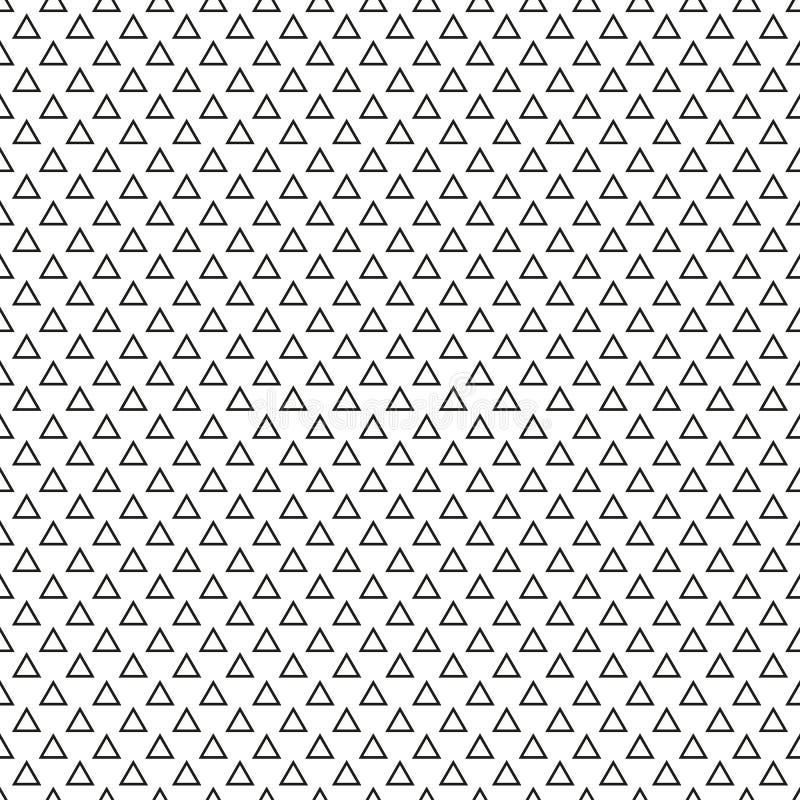 Texture sans fin faite de triangles noires équilaterales sur le CCB blanc illustration de vecteur
