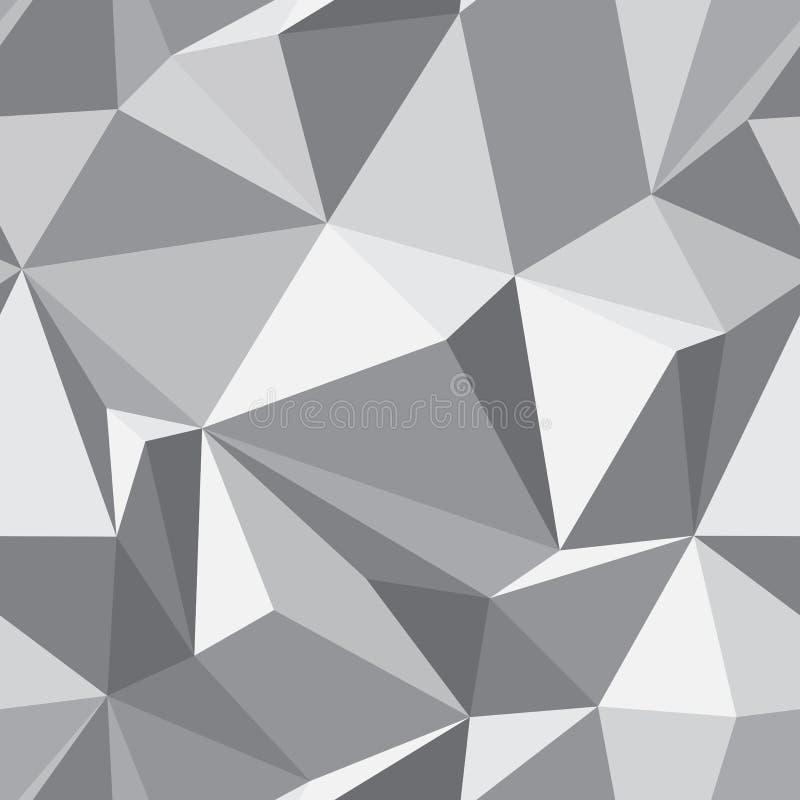 Texture sans joint abstraite - fond de polygones illustration libre de droits