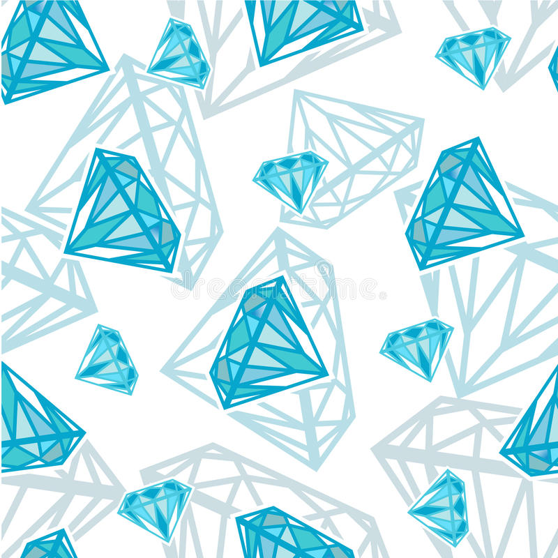 Texture sans joint avec des diamants illustration de vecteur