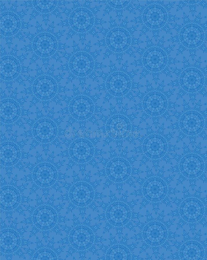 Texture sans joint avec les flocons de neige de dentelle bleus illustration stock
