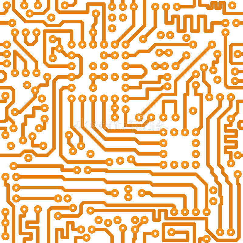 Texture sans joint - carte électronique illustration stock