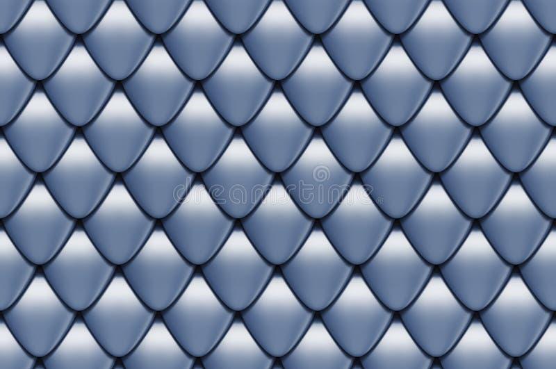 Texture sans joint d'échelles illustration libre de droits