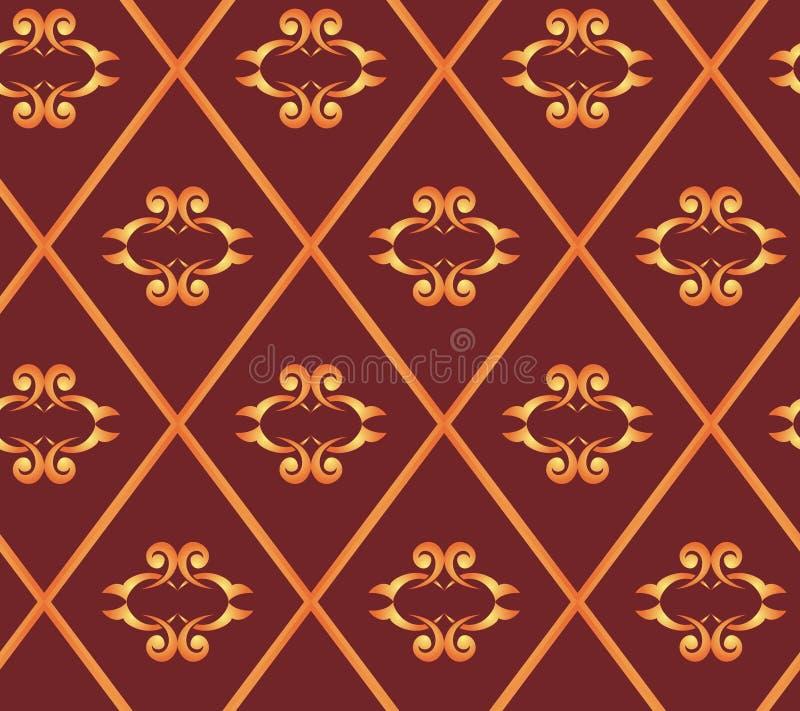 Texture sans joint de brun de vecteur avec des losanges illustration libre de droits