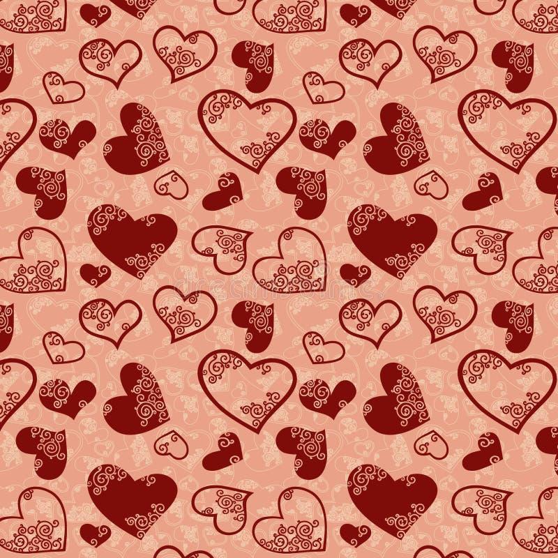 Texture sans joint de coeur illustration de vecteur