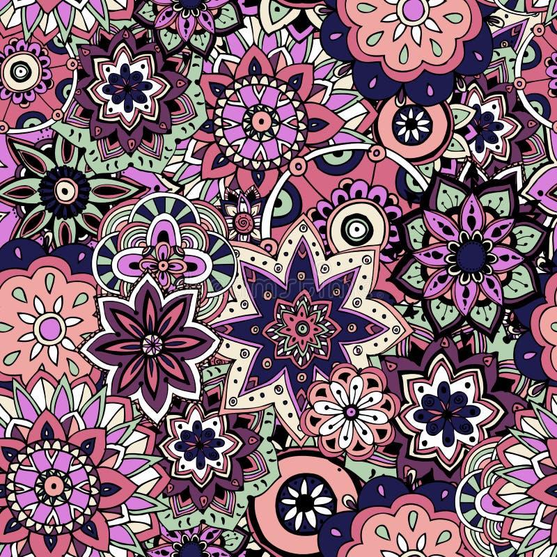 Texture sans joint de configuration Éléments indiens, arabes, turcs de style illustration stock