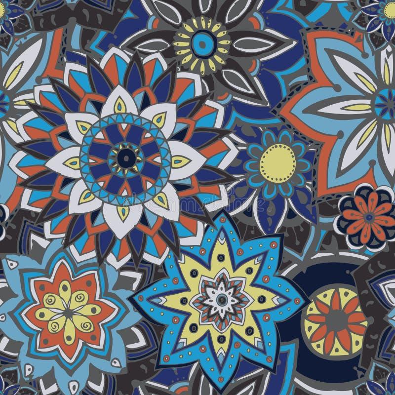 Texture sans joint de configuration Éléments indiens, arabes, turcs de style illustration de vecteur