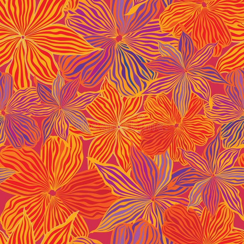 Texture sans joint de fond de vecteur de fleur abstraite illustration de vecteur