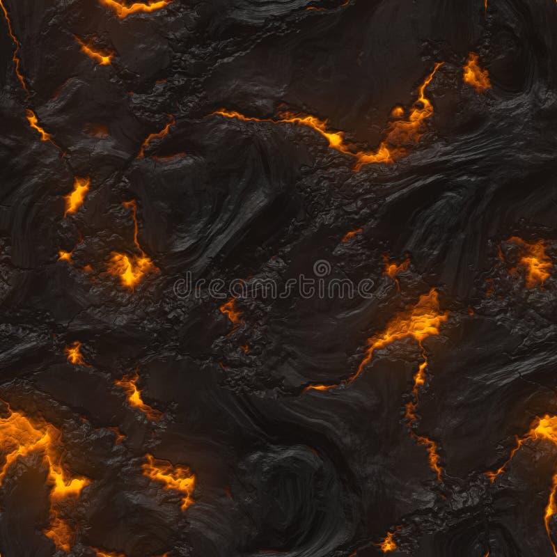 Texture sans joint de magma ou de lave illustration de vecteur