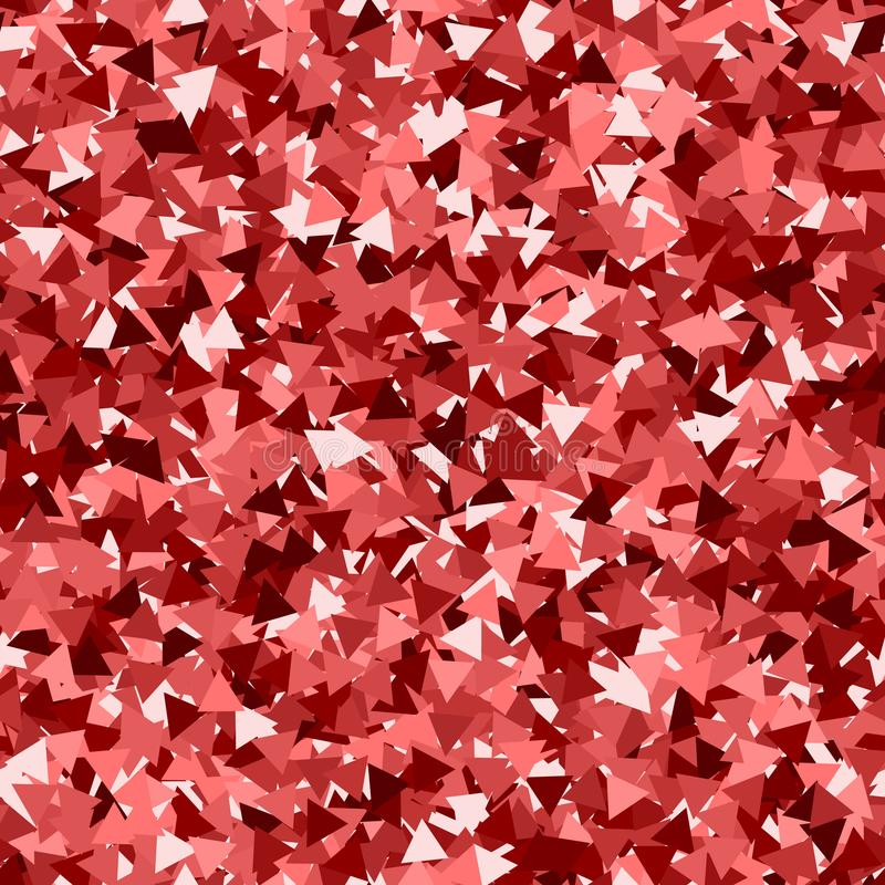 Texture sans joint de scintillement Particules rouges adorables Modèle sans fin fait de triangles de scintillement Radia illustration stock