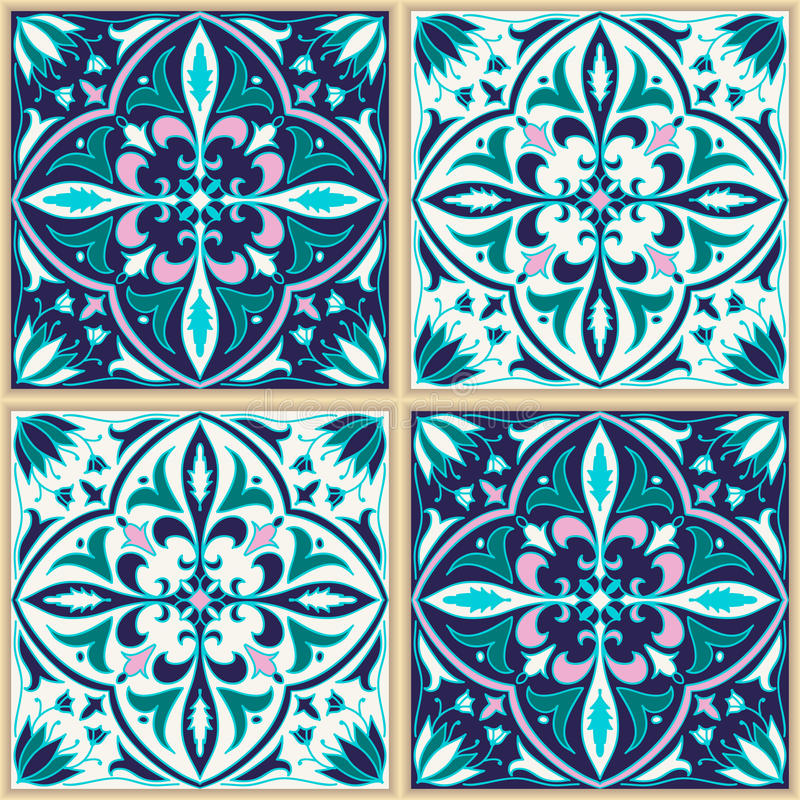 Texture sans joint de vecteur Beau modèle coloré pour la conception et mode avec les éléments décoratifs illustration stock