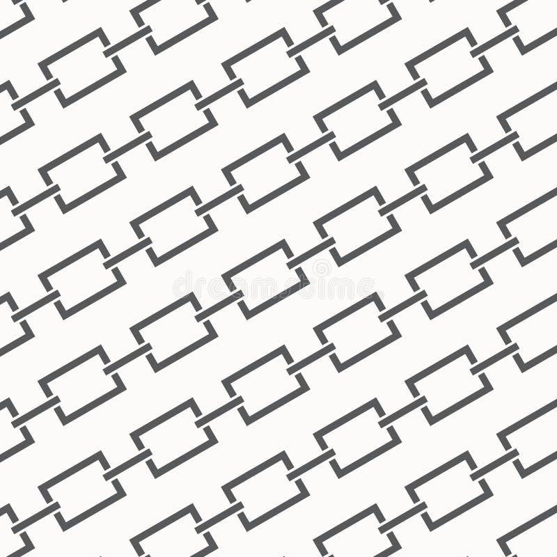 Texture sans joint de vecteur Fond abstrait moderne Modèle monochrome des maillons de chaîne de bicyclette illustration stock