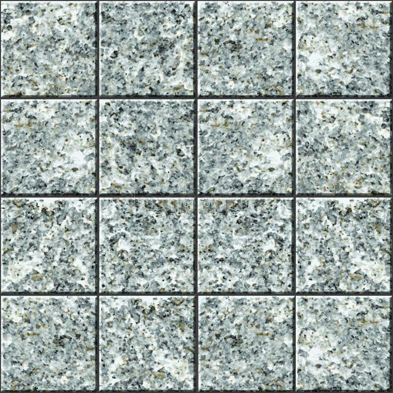 Texture sans joint de vecteur - plancher de tuile de granit illustration libre de droits