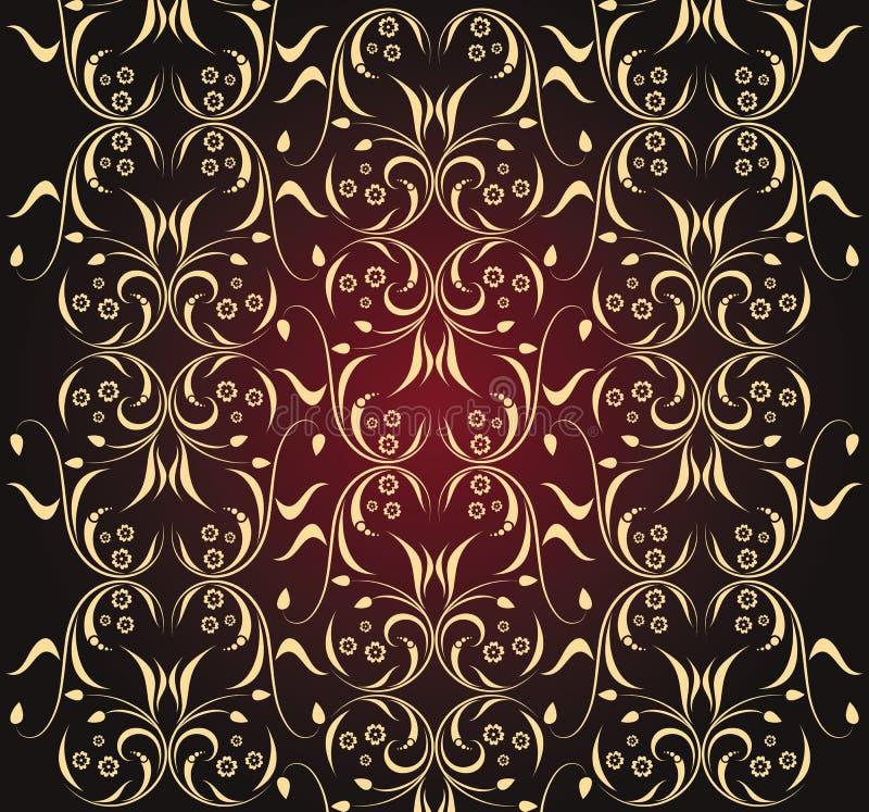 texture sans joint fleurie illustration libre de droits