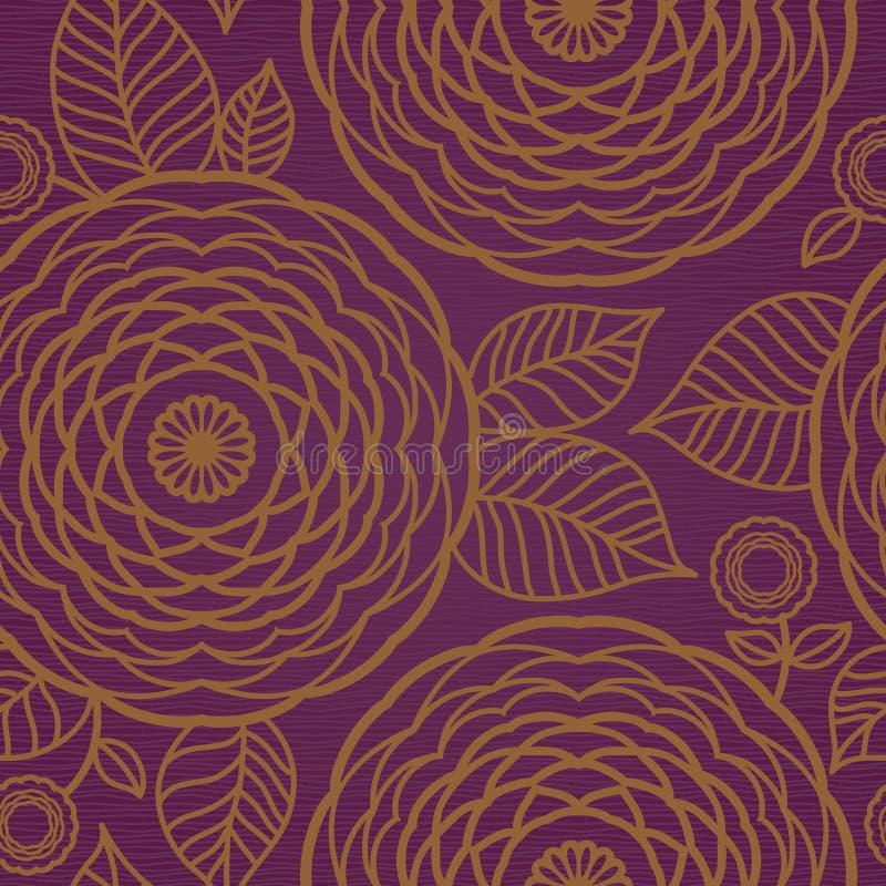 Texture sans joint florale fleurie illustration libre de droits