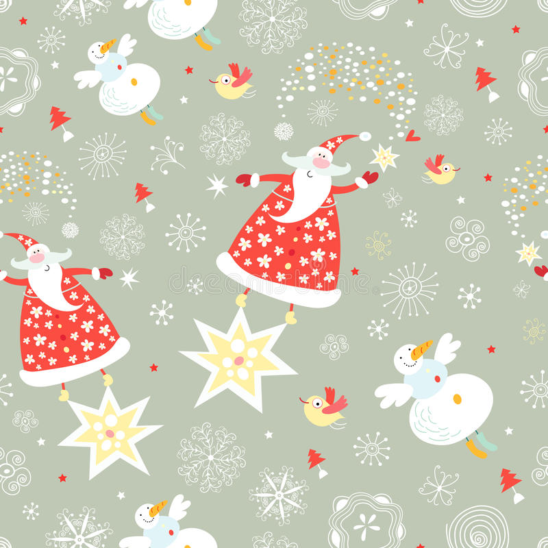 The texture of santa claus royalty free illustration