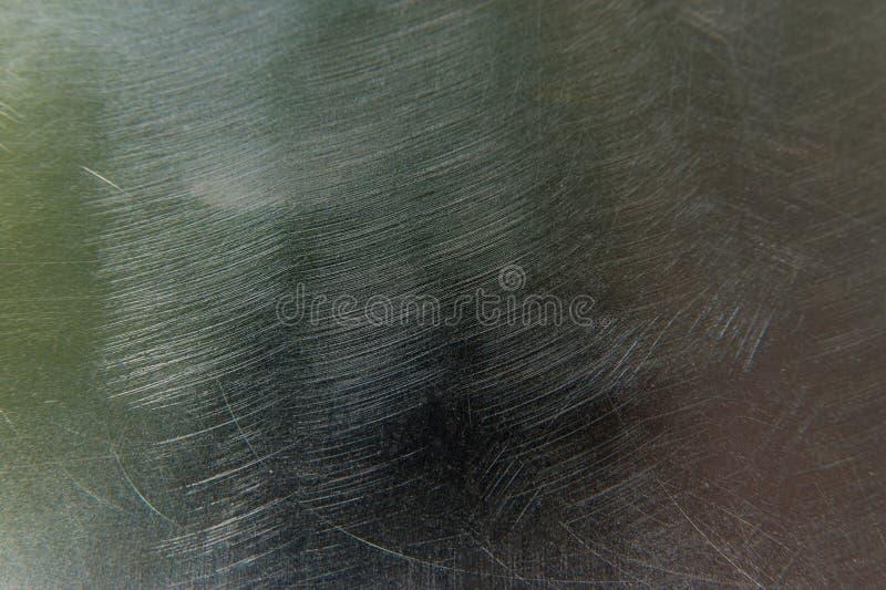 Texture of scratched metal. Macro stock photo