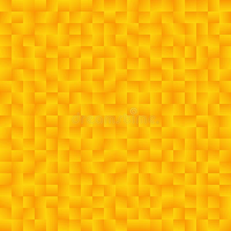 Texture se composant des places jaunes de gradient Ba abstrait de vecteur illustration de vecteur