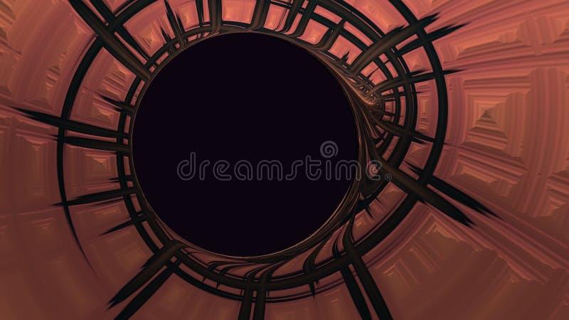 Texture se développante en spirales abstraite avec l'espace circulaire de copie illustration libre de droits