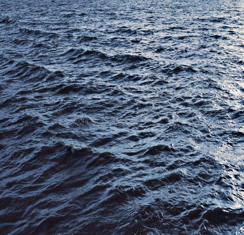 Texture sea waves storm. Frozen royalty free stock photo