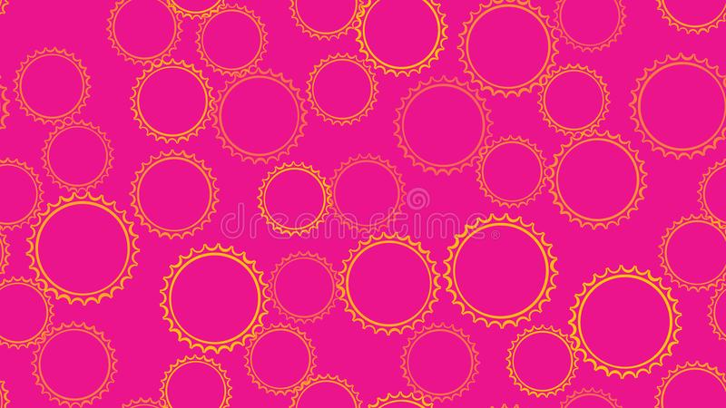 Texture seamless pattern from set of multi-colored simple round abstract carved bubbles circles of geometric shapes of gears vector illustration