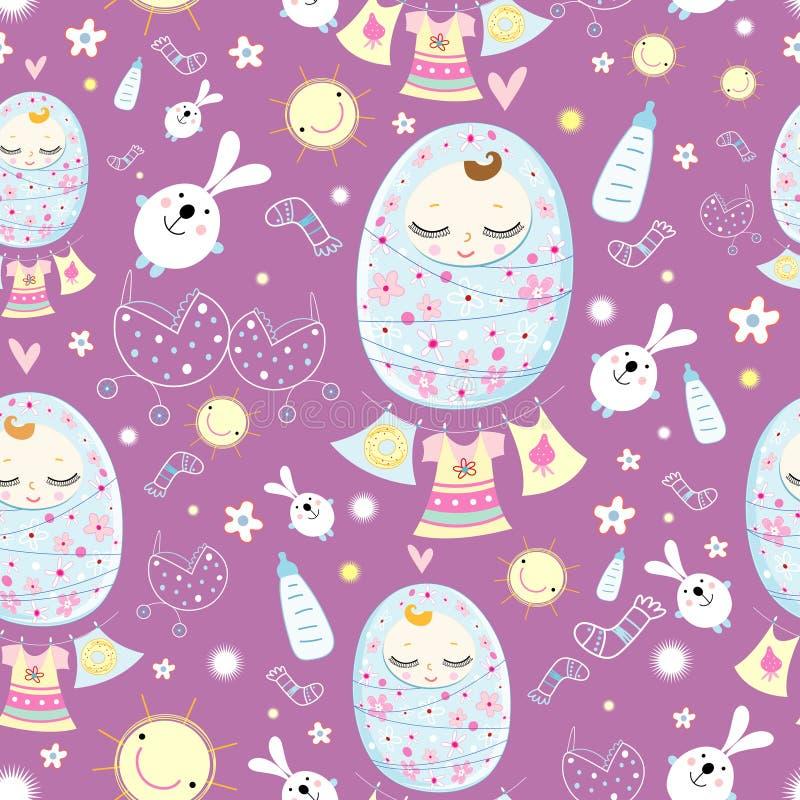 Download Texture sleeping babies stock vector. Illustration of diapers - 28500159