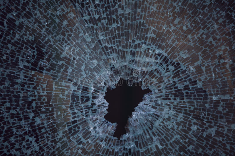 Texture of smashed glass window. Background Texture of smashed glass royalty free stock image