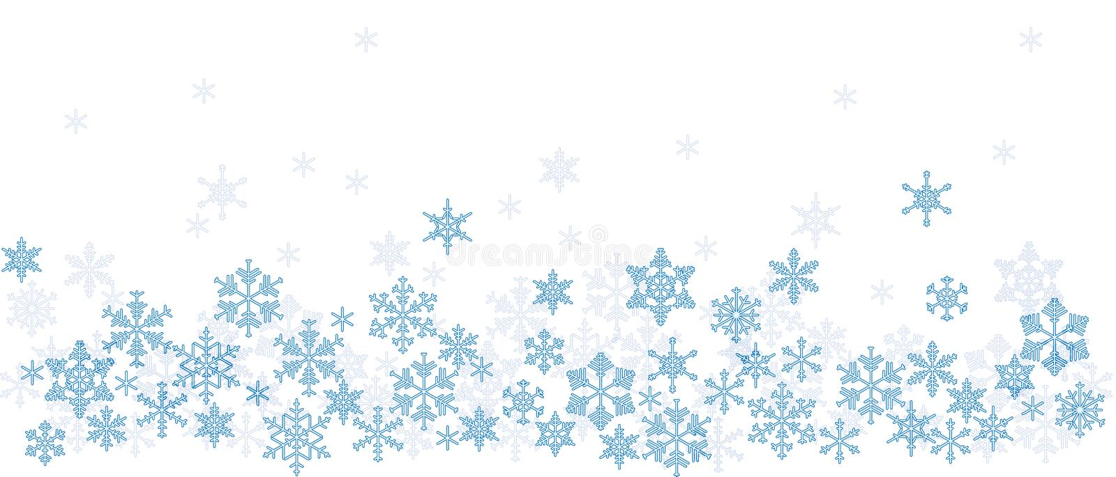 Texture with snowflakes stock illustration