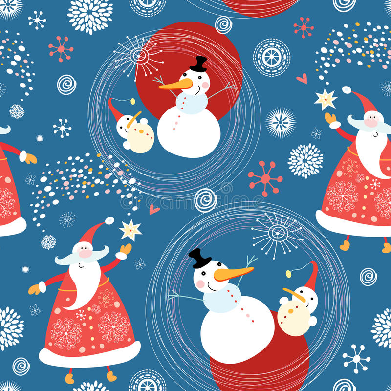 Download Texture Snowmen And Santa Claus Stock Vector - Image: 16798123