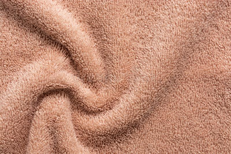 Texture Of Brown Terry Cloth Fabric Stock Photo Image Of