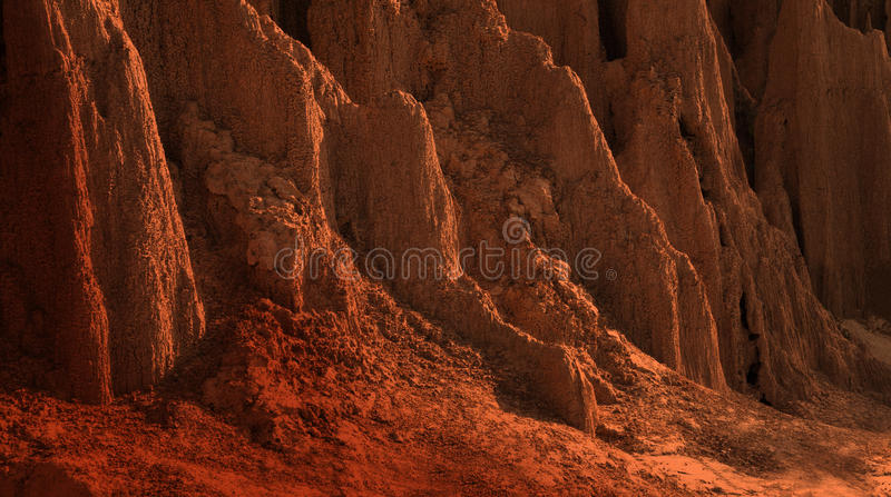 The texture of Soil collapses. Warm Color tone. stock photos