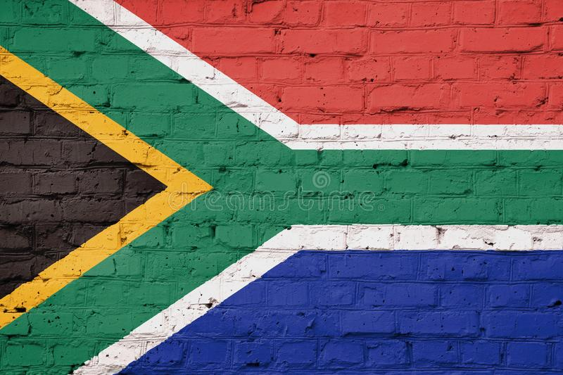 Texture of South Africa flag. royalty free stock photos