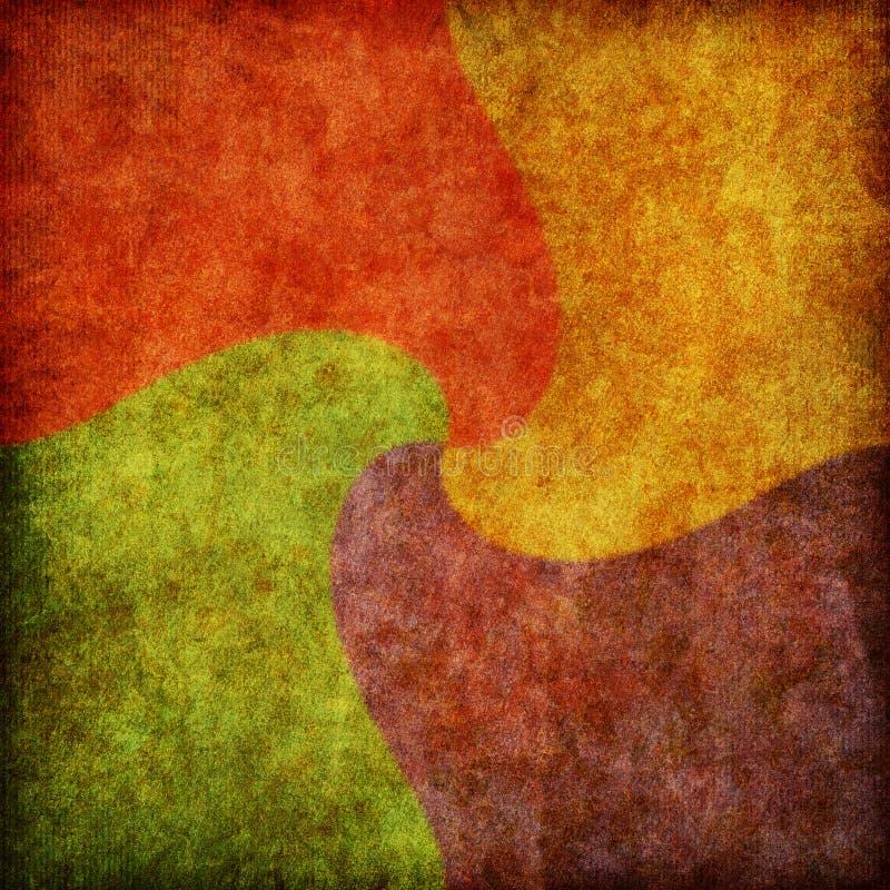 Texture spiralée de fond de grand dos de couleur illustration libre de droits