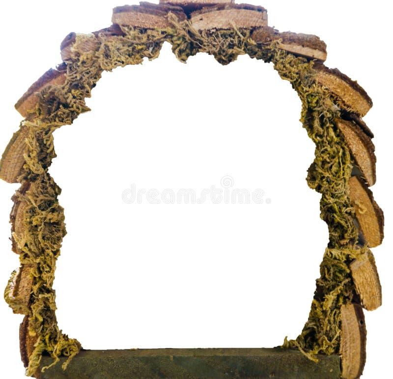 Texture stable de petit Noël en bois vide d'isolement sur un fond blanc photo libre de droits
