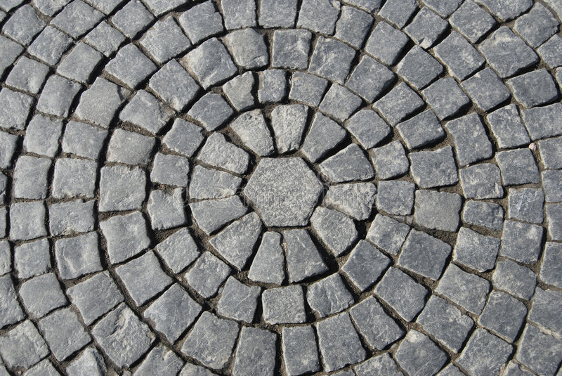 Texture of Stone Pavement stock image