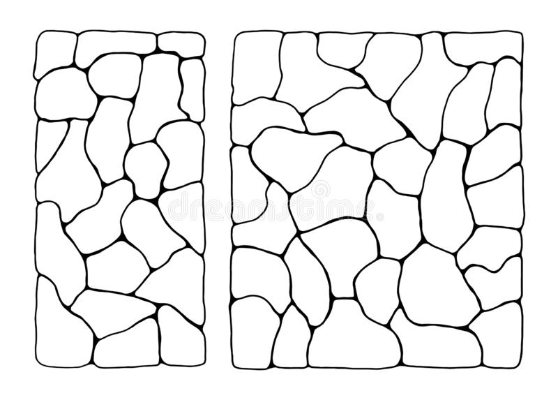 Texture of stones in isolation. wall relief.  vector illustration