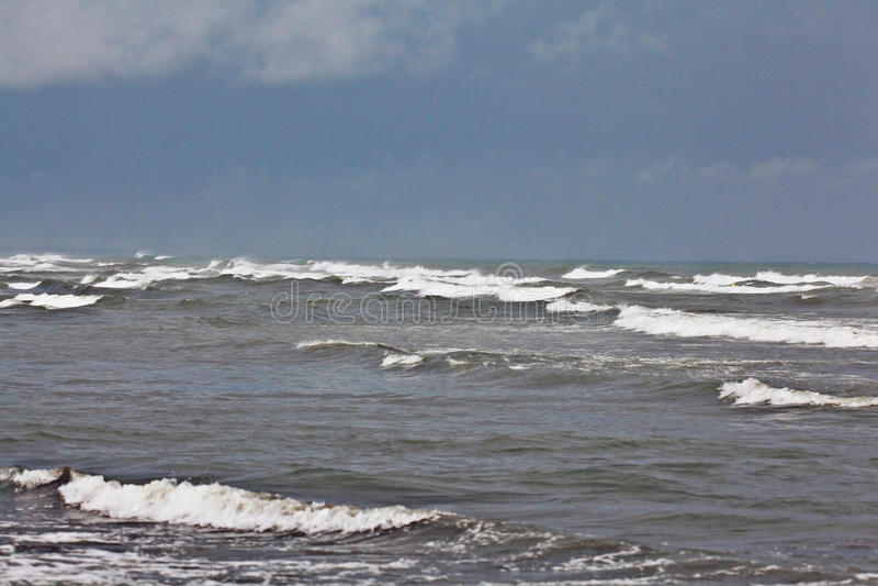Texture of a storm at sea. Gray waves royalty free stock photo