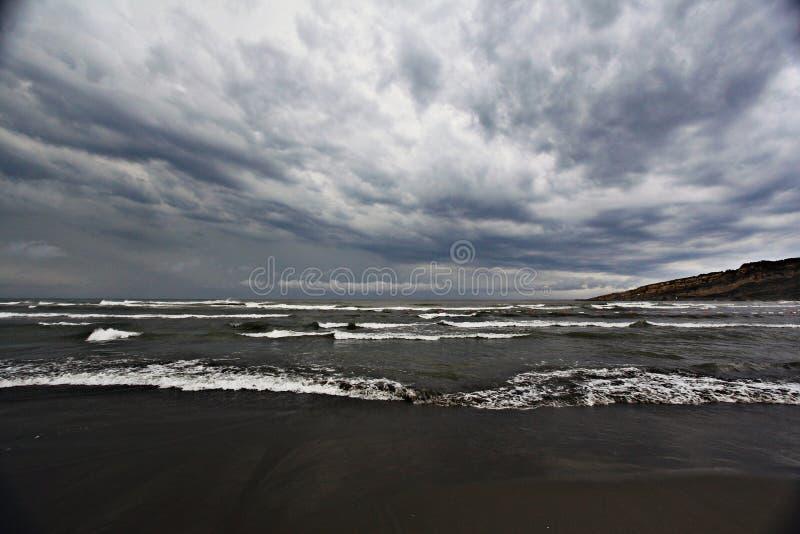 Texture of a storm at sea. Gray waves royalty free stock photos