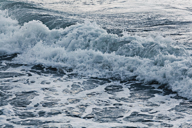Texture storm sea waves. Texture storm sea gray waves royalty free stock photos