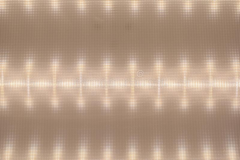 Texture of the surface diffuser, LED Ceiling Light, light pattern on the deflecto. R, abstract background royalty free stock images
