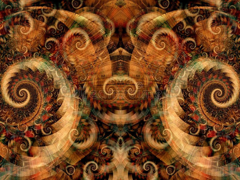 Texture symétrique d'imagination illustration de vecteur
