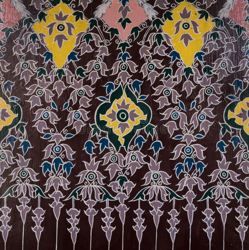 Texture thaïe d'art photo stock