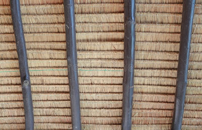 A texture of thatch roof at Thailand house.  stock photography