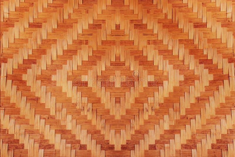 Texture tissée en bambou de modèle de résumé pour le fond photo stock