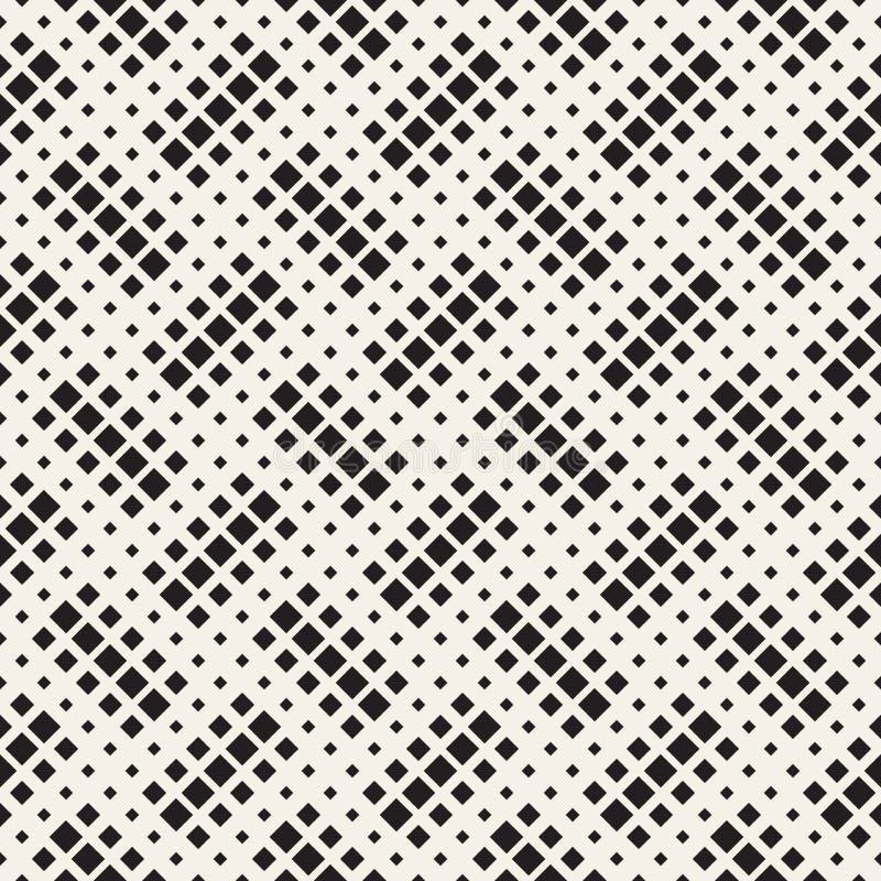 Texture tramée élégante Fond abstrait sans fin avec des formes aléatoires de taille Modèle de mosaïque sans couture de vecteur illustration de vecteur