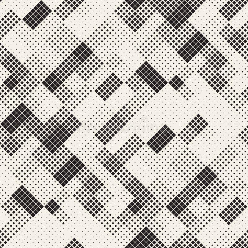 Texture tramée élégante moderne Fond abstrait sans fin avec les places aléatoires de taille Places chaotiques sans couture de vec illustration stock