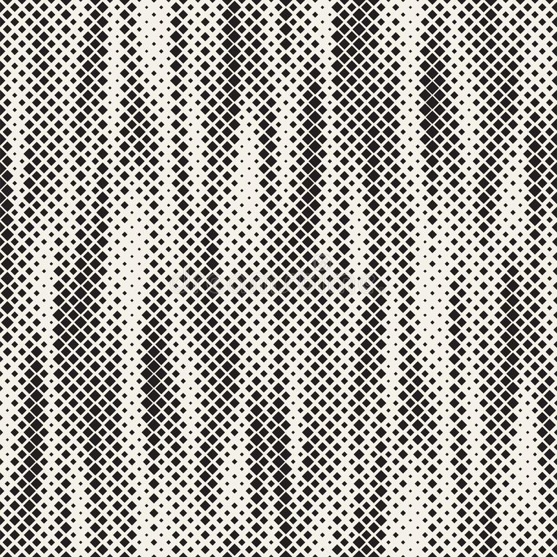 Texture tramée élégante moderne Fond abstrait sans fin avec les places aléatoires de taille Modèle de mosaïque sans couture de pl illustration de vecteur