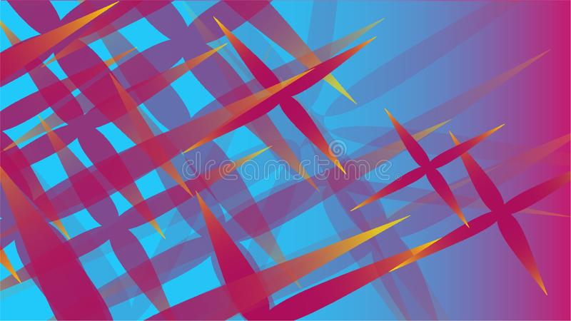 Texture of transparent purple abstract volumetric fashionable magic of various shapes of light air cosmic carved stars on a blue g vector illustration