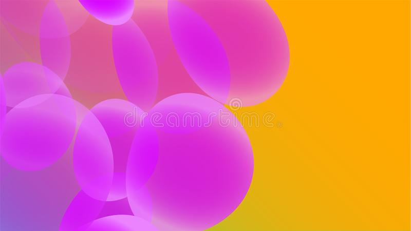 Texture of transparent violet abstract volumetric fashionable unique magic round different shapes of light beautiful air cosmic bu vector illustration